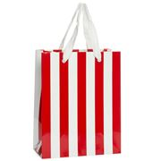 Vandoros - Small Red and White Pavilion Gloss Bag