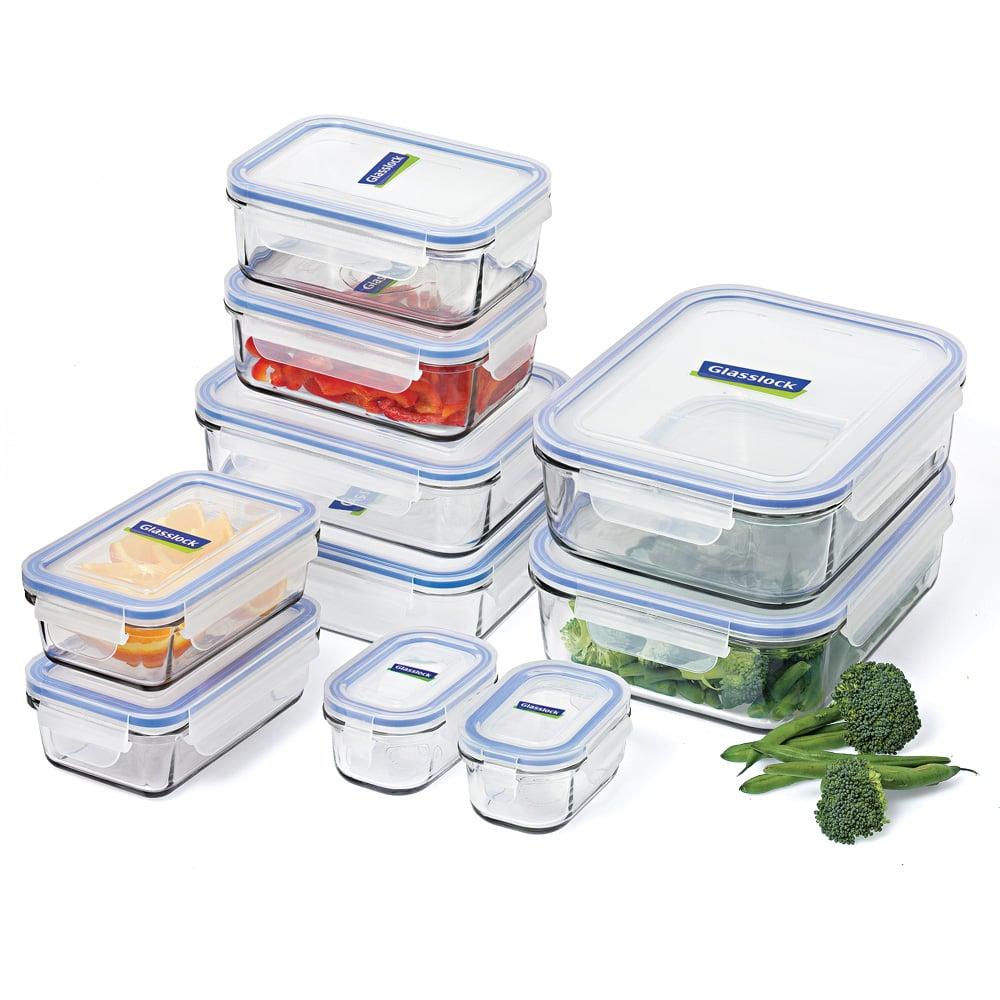 glasslock tempered glass food container set 10pce. Black Bedroom Furniture Sets. Home Design Ideas