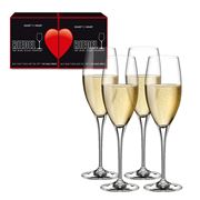Riedel - Heart To Heart Champagne Flute Set 4pce