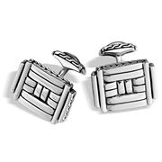 John Hardy - Men's Bedeg Silver Rectangular Cufflinks