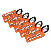 Primo - Nothing to Declare Orange Luggage Tag Set 5pce