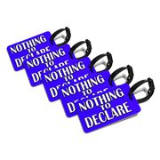 Primo - Nothing To Declare Blue Luggage Tag Set 5pce