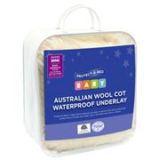 Protect-A-Bed - Australian Wool Cot Waterproof Underlay