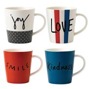 Royal Doulton - Ellen Degeneres Joy Accent Mug Set 4pce