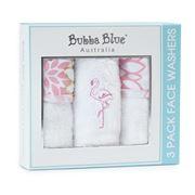 Bubba Blue - Flamingo Face Washer