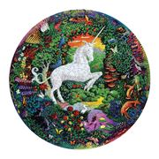 eeBoo - 500 Piece Round Unicorn Puzzle