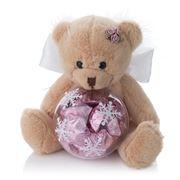 Boz Christmas - Snowflake Teddy Angel with Chocolates Pink