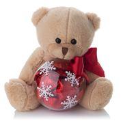 Boz Christmas - Snowflake Teddy with Chocolates Red