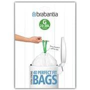 Brabantia - Pedal Bin Plastic Liners G 40pk 23-30L