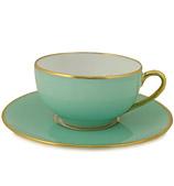 Limoges - Legle Water Green Teacup & Saucer