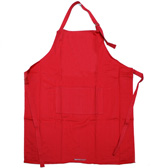 Ogilvies Designs - Plain Apron Red