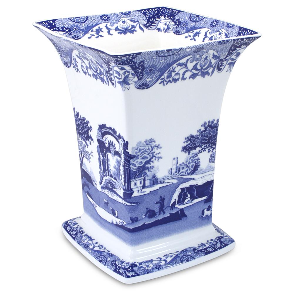 Spode Blue Italian Square Vase Peter S Of Kensington