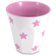 J.A.B. Design - Cafe Cup Pink and White Stars