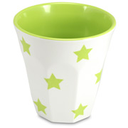 J.A.B. Design - Cafe Cup Lime and White Stars