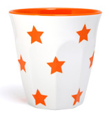 J.A.B. Design - Cafe Cup Orange Stars