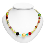 Antica Murrina - Carillon Amber Murano Necklace