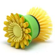 Vigar - Flower Power Hand Dish Brush Yellow