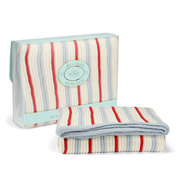 Branberry - Striped Cot Blanket