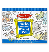 Melissa & Doug - Jumbo Colouring Pad Blue