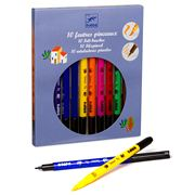 Djeco - Felt Brush Set 10pce Classic Colours