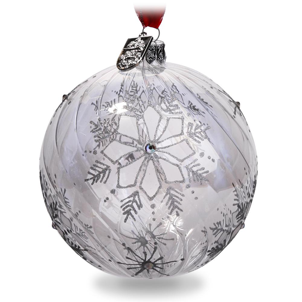 Waterford christmas silver snowflake ball