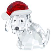 Swarovski - Christmas Dog with Santa's Hat