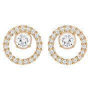 Swarovski - Creativity Small Rose Gold Circle Earrings