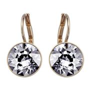 Swarovski - Bella Mini Silver Night Rose Gold Earrings