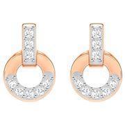 Swarovski - Circle Stud Pierced Earrings