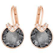 Swarovski - Bella V Pierced Grey Earrings