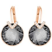 Swarovski - Bella V Pierced Large Grey Earrings
