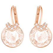 Swarovski - Bella V Pierced Pink Earrings