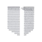 Swarovski - Fit Refresh Rhodium Plated Long Earrings