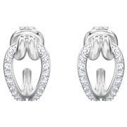 Swarovski - Lifelong Rhodium Small Hoop Earrings