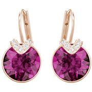 Swarovski - Bella Rose Gold-Plated Fuschia Earrings