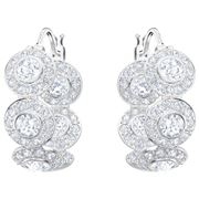 Swarovski - Angelic Rhodium Plated Crystal Hoop Earrings