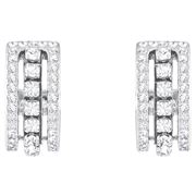 Swarovski - Further Rhodium Plated Clear Pave Earrings