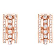 Swarovski - Further Rose Gold White Pierced Earrings