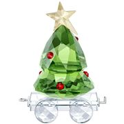 Swarovski - Christmas Tree Wagon Crystal Figurine