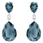 Swarovski - Vintage Blue Drop Pear Earrings