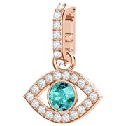 Swarovski - Remix Rose Gold Plated Green Evil Eye Charm