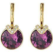 Swarovski - Bella V Purple Gold Pierced Earrings