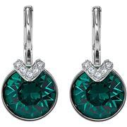 Swarovski - Bella V Drop Earrings Rhodium Plated Green