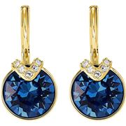 Swarovski - Bella V Drop Earrings Gold-Plated/Blue Crystal