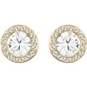 Swarovski - Angelic Round Stud Earrings Gold-Plated/Crystal