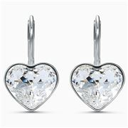 Swarovski - Bella Heart Pierced Earrings White Rhodium