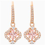 Swarovski - Sparkling Dance Clover Pierced Pink Earrings