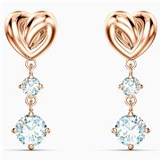 Swarovski - Lifelong Heart Pierced Earrings Rose Gold