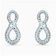 Swarovski - Infinity Mini Pierced White Rhodium Earrings