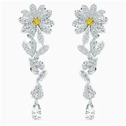 Swarovski -  Flower Pierced Earrings Yellow Rhodium Plated